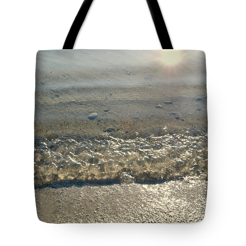 Wave Tote Bag featuring the photograph Wave On The Beach by Mats Silvan