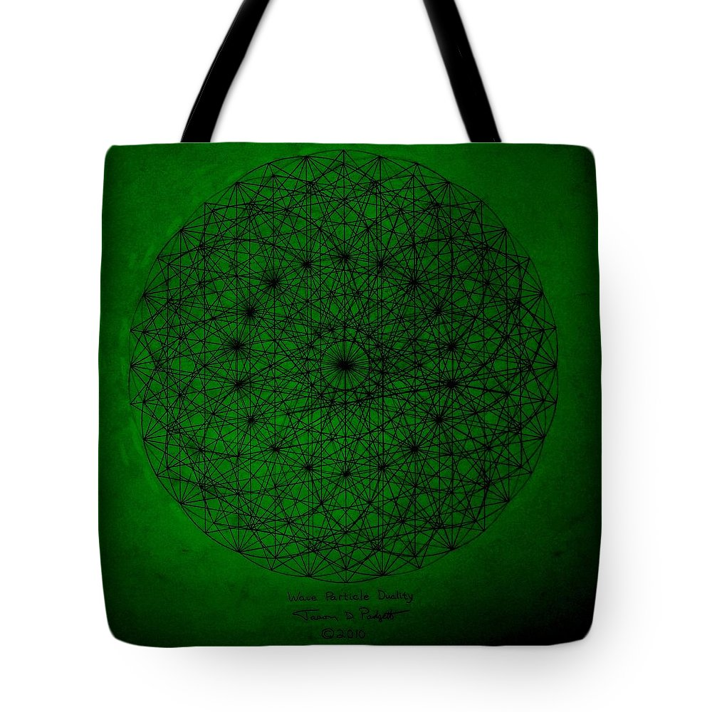 Fractals Tote Bag featuring the drawing Wave Particle Duality II by Jason Padgett