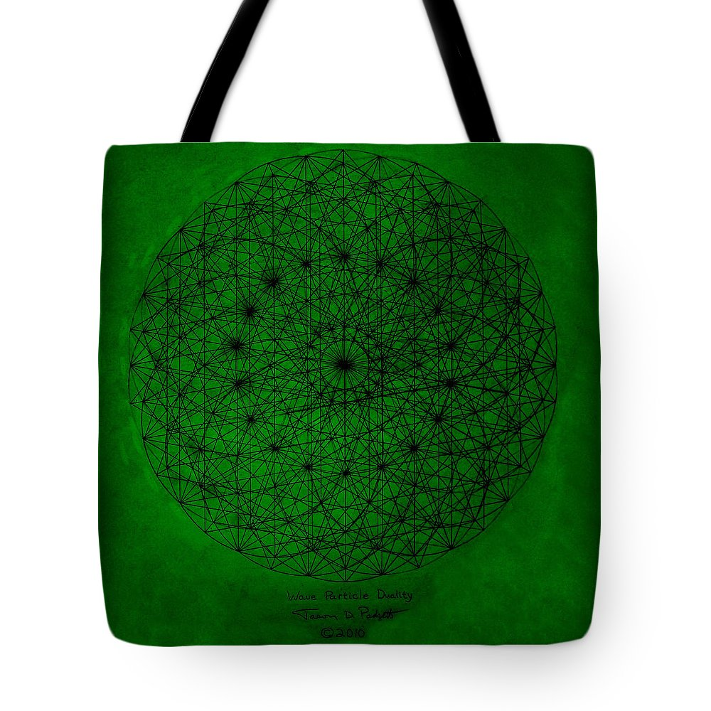 Fractal Tote Bag featuring the drawing Wave Particle Duality by Jason Padgett