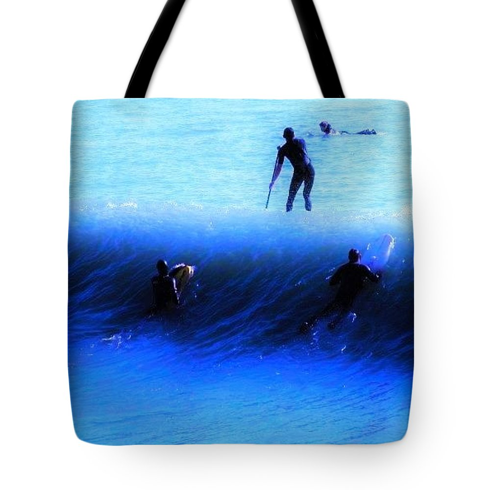 Surf Tote Bag featuring the photograph Wave Walker by Julie Hughes