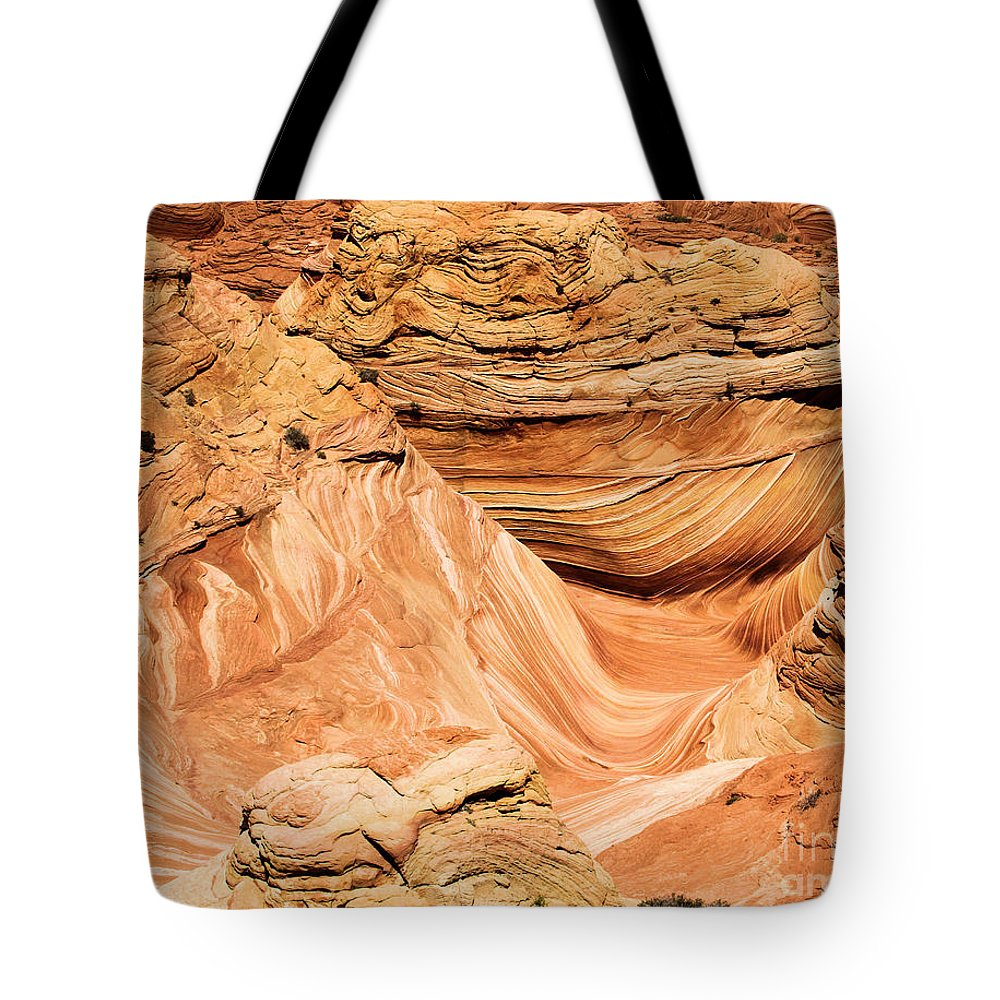 The Wave Tote Bag featuring the photograph Waves And Twists by Adam Jewell