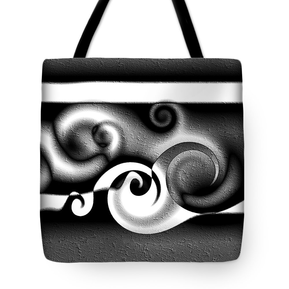 Wave Tote Bag featuring the digital art Waves by Kiki Art