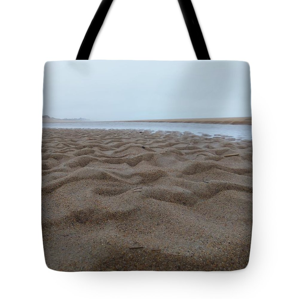 Sandy Point Tote Bag featuring the photograph Waves Of Sand by Two Bridges North