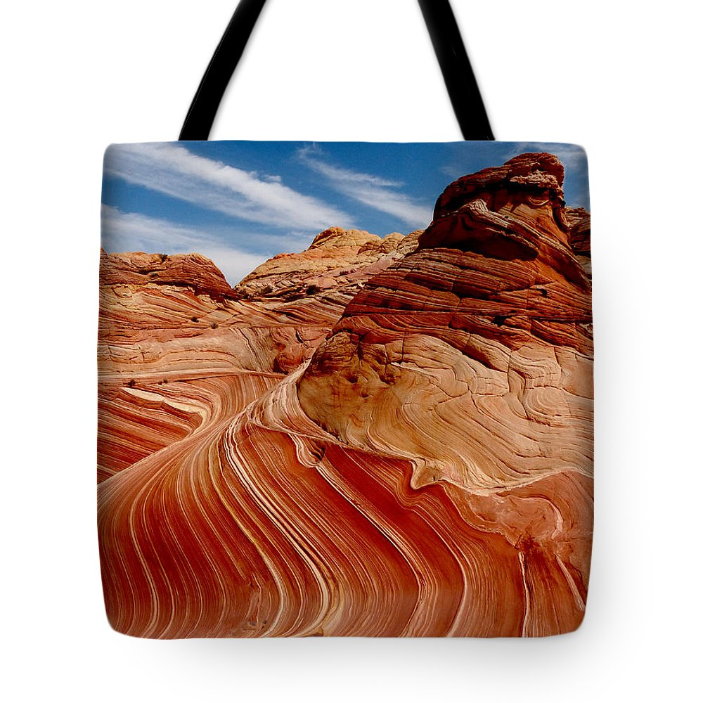 Canyon Tote Bag featuring the photograph Waves Of Time by Alan Socolik