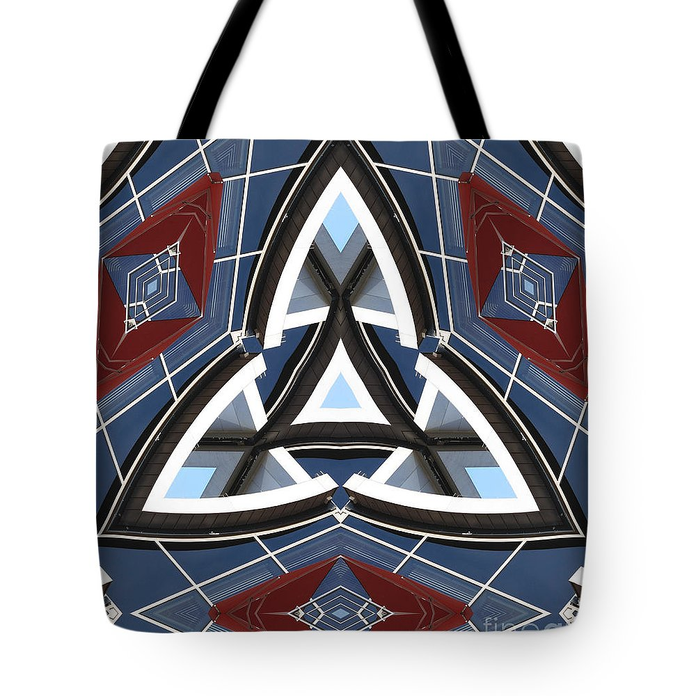 Waves Tote Bag featuring the digital art Waves by Wendy Wilton