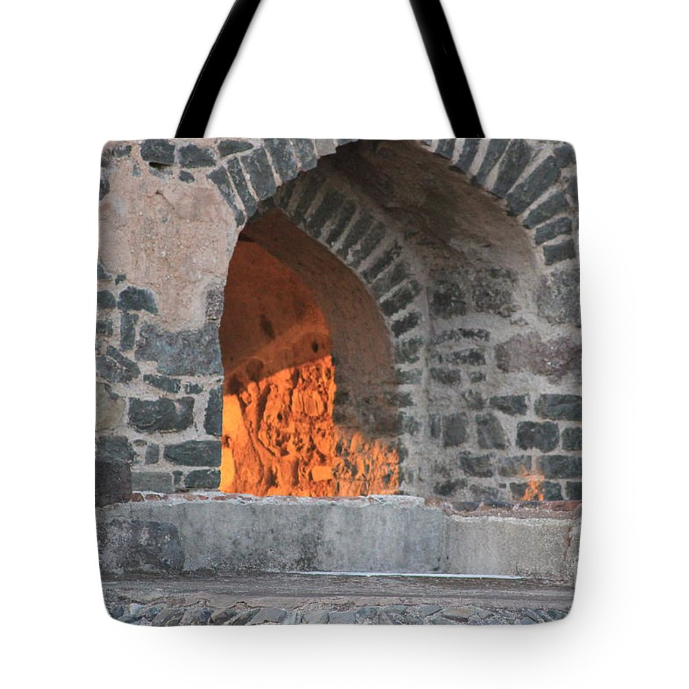 House Tote Bag featuring the photograph Way To The Fireplace by Four Hands Art