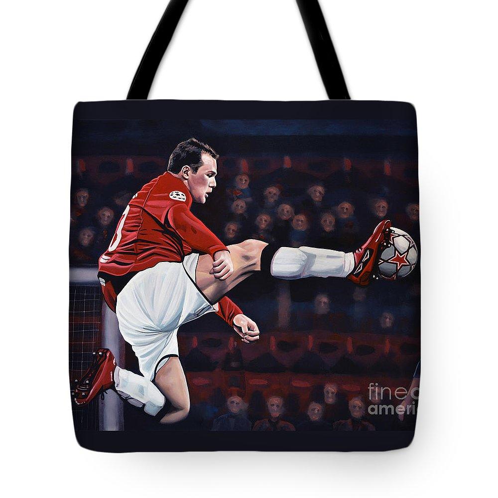 Wayne Rooney Tote Bags