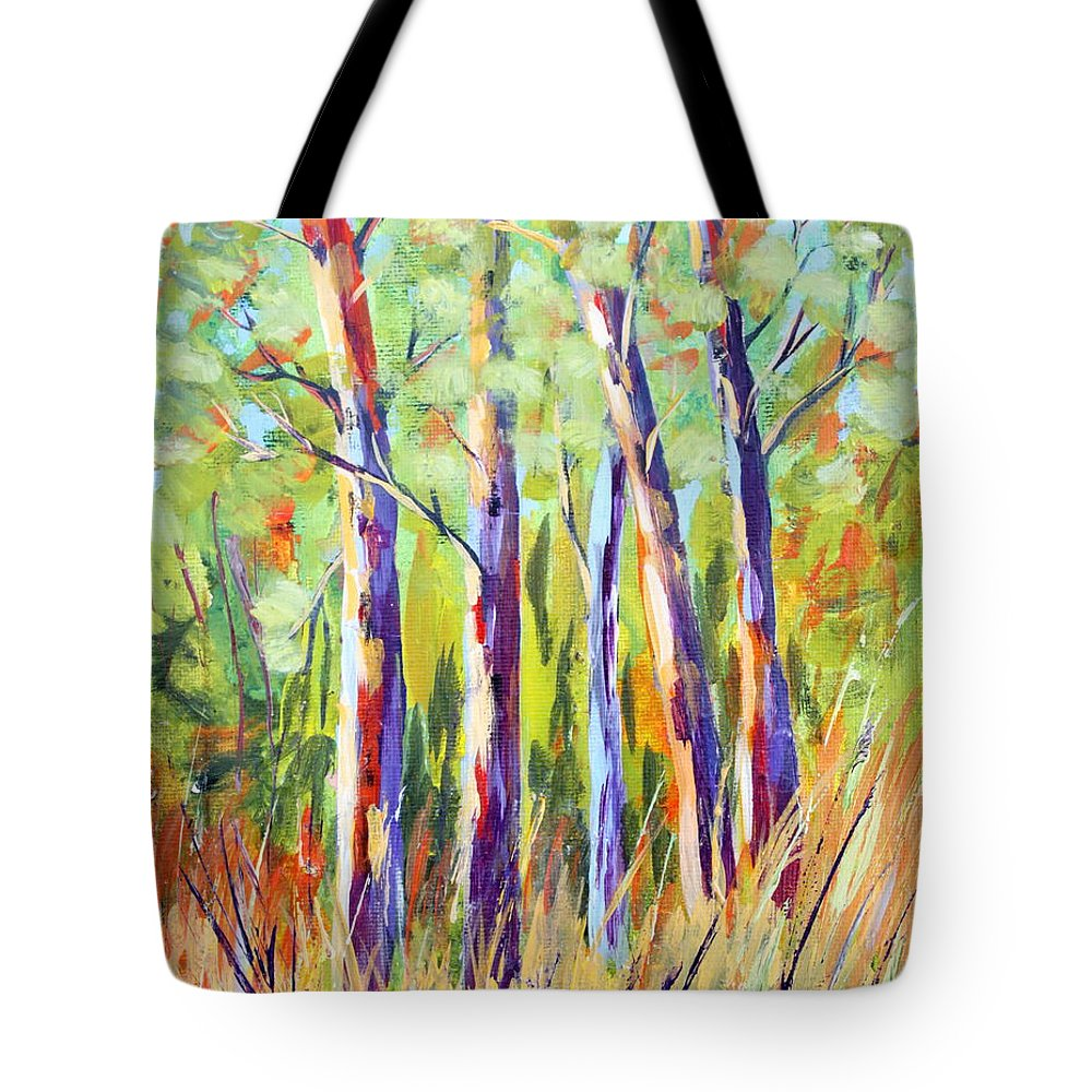 Trees Tote Bag featuring the painting We Are Family by Sole Avaria