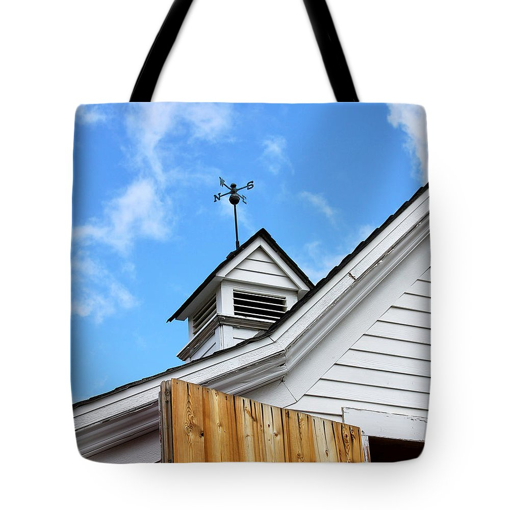 Apple Tote Bag featuring the photograph Weather Vane Apple Valley by William Dey