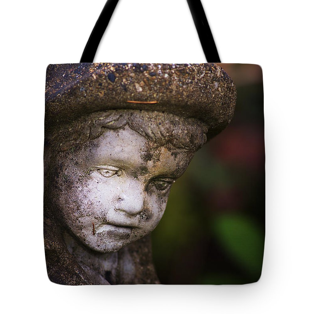 Boy Tote Bag featuring the photograph Weathered Boy by Belinda Greb