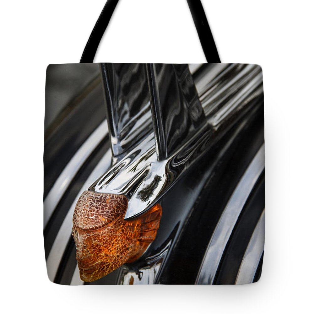 Hot Rod Tote Bag featuring the photograph Weathered Chieftan by Guy Shultz