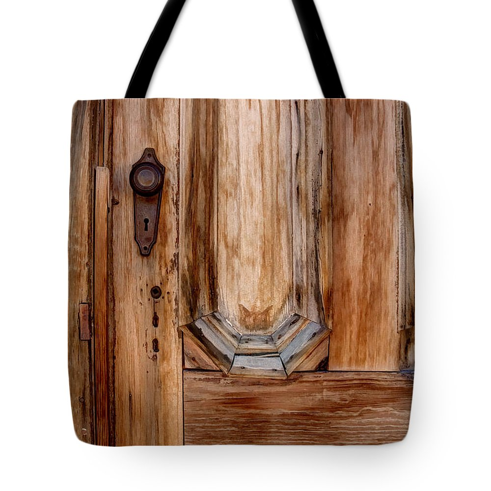 Old Tote Bag featuring the photograph Weathered Entrance by Margie Hurwich