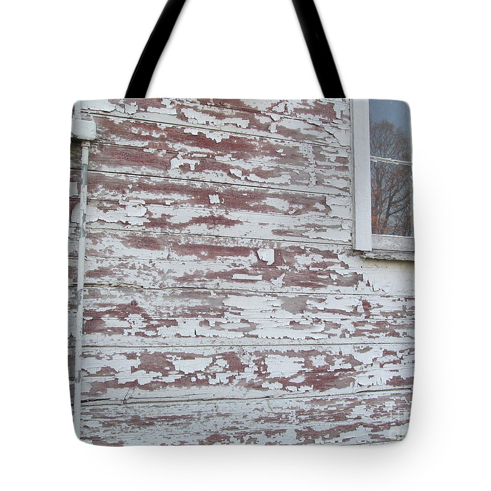 Barn Tote Bag featuring the photograph Weathered North Barn Lower Window by Tina M Wenger