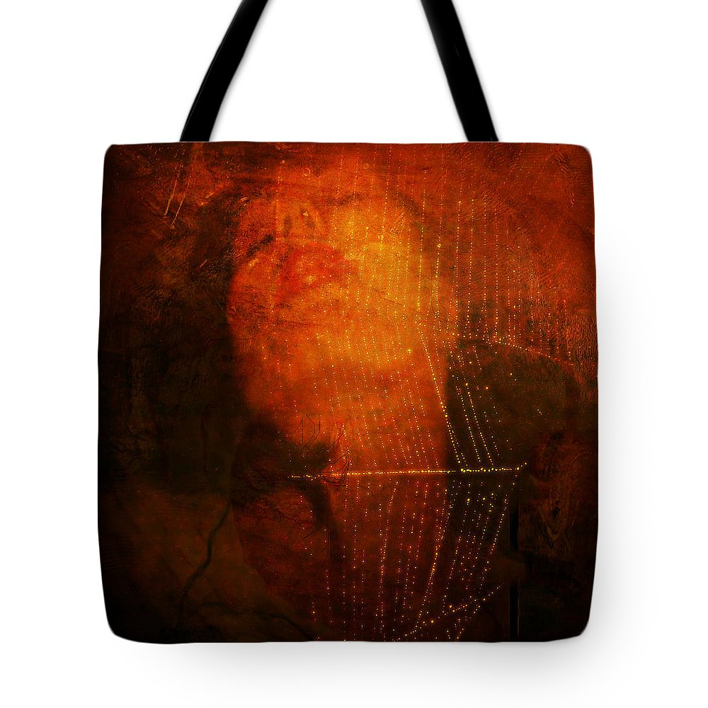 Self Portrait Tote Bag featuring the photograph Web Of Seduction by Chris Crowley