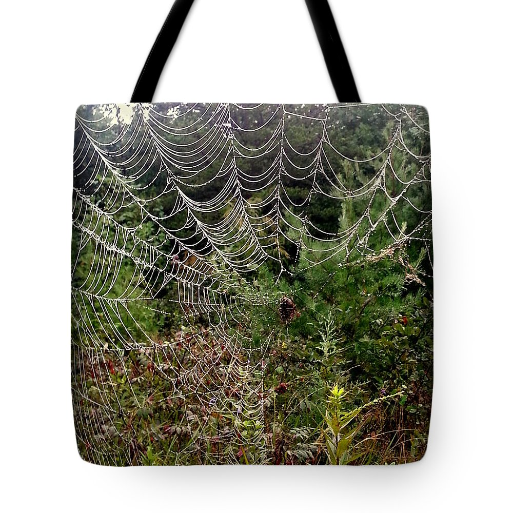 Web Tote Bag featuring the photograph Web2 by Daniel Jakus