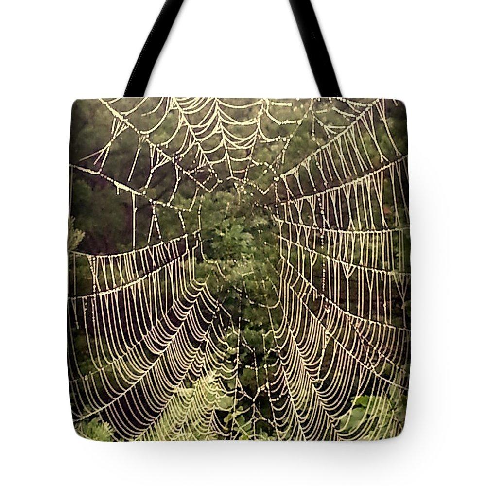Web Tote Bag featuring the photograph Web2dark by Daniel Jakus