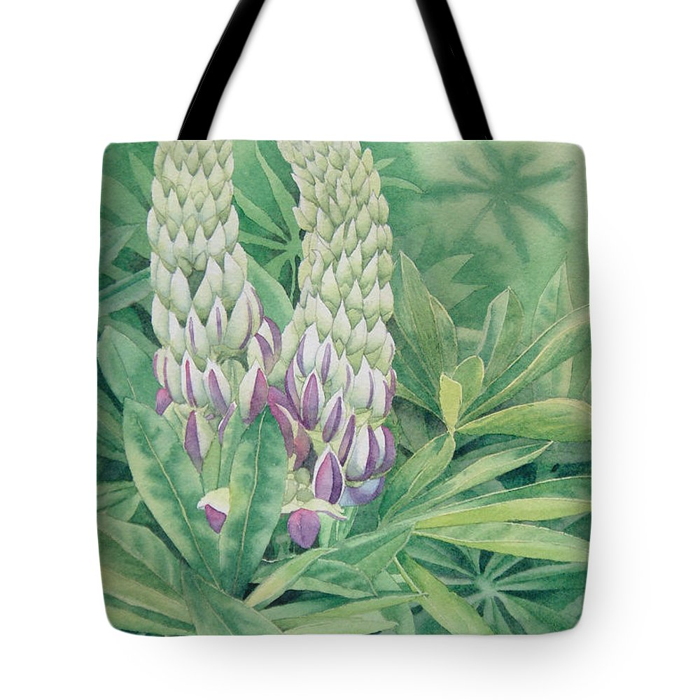 Watercolor Tote Bag featuring the painting Wedded Bliss by Karen Richardson