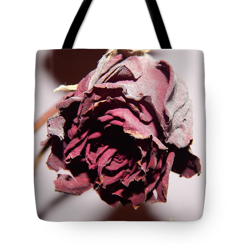 Flower Tote Bag featuring the photograph Weeping Rose by FL collection