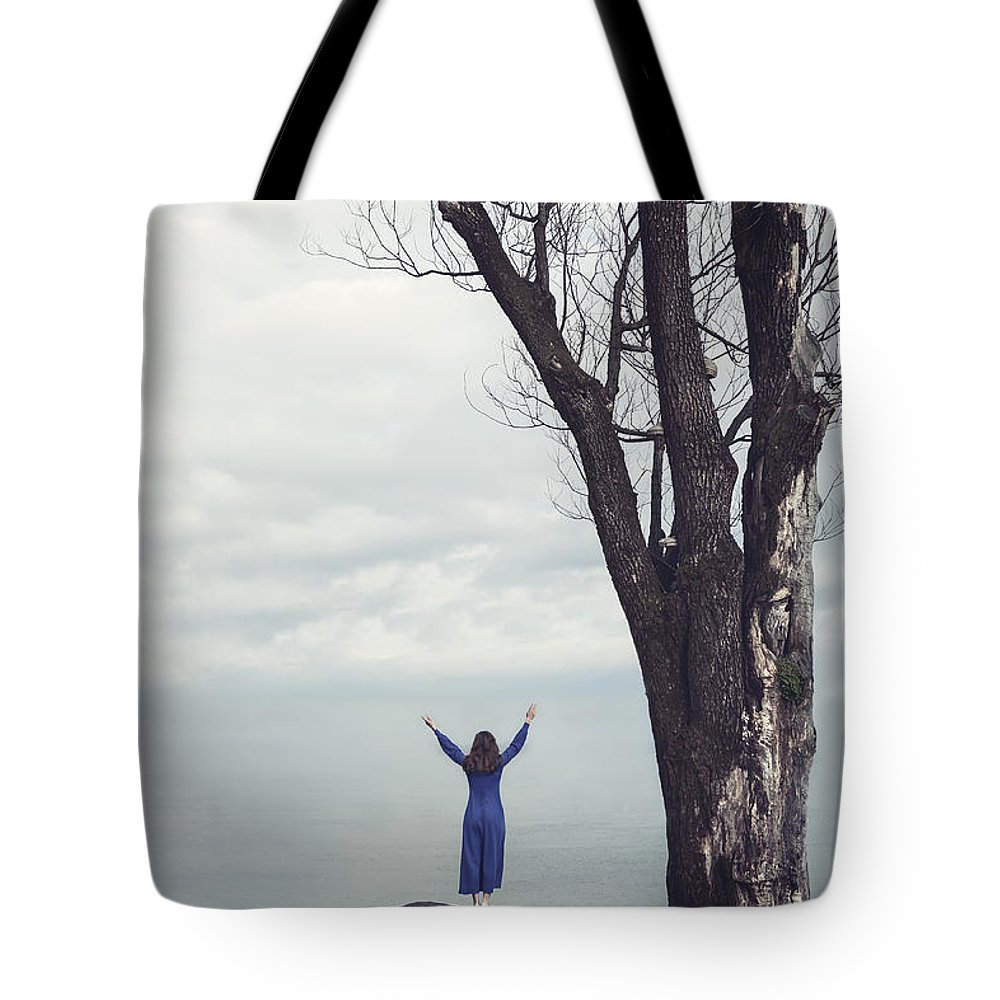 Girl Tote Bag featuring the photograph Welcome Beautiful Day by Joana Kruse