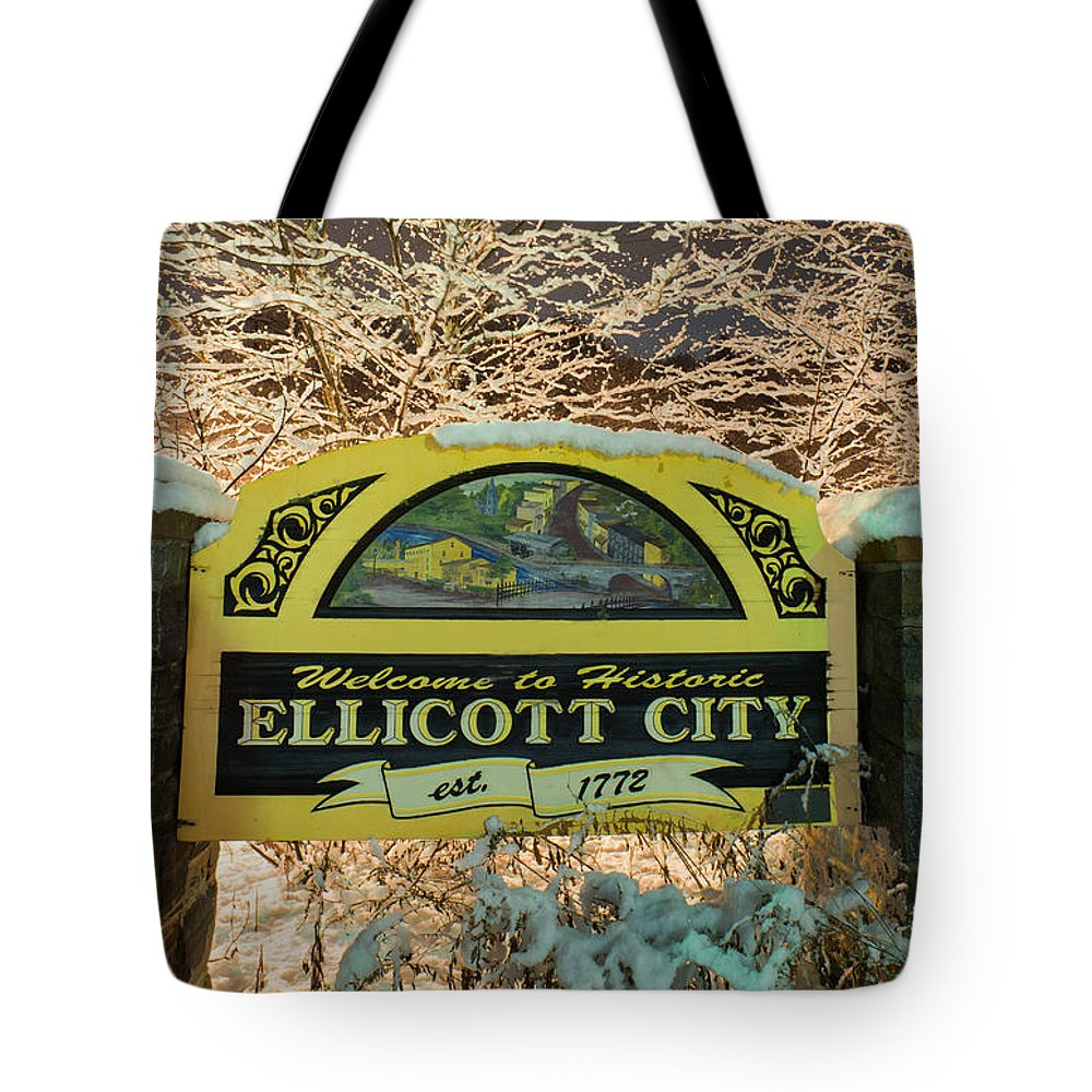 Tote Bag featuring the photograph Welcome To Ellicott City by Dana Sohr