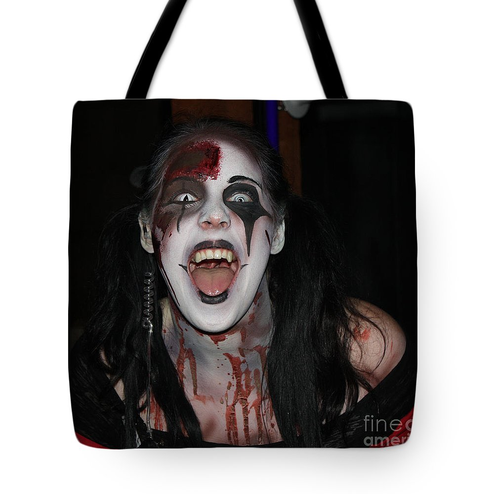 Welcome To My Horror House Tote Bag featuring the photograph Welcome To My Horror House by John Telfer