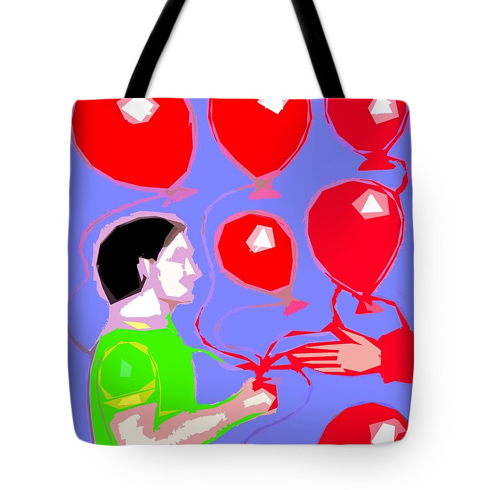 Birthday Tote Bag featuring the painting Welcome To My Party by Patrick J Murphy