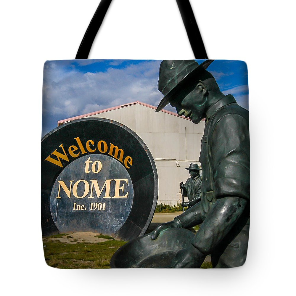 Nome Tote Bag featuring the photograph Welcome To Nome by William Krumpelman