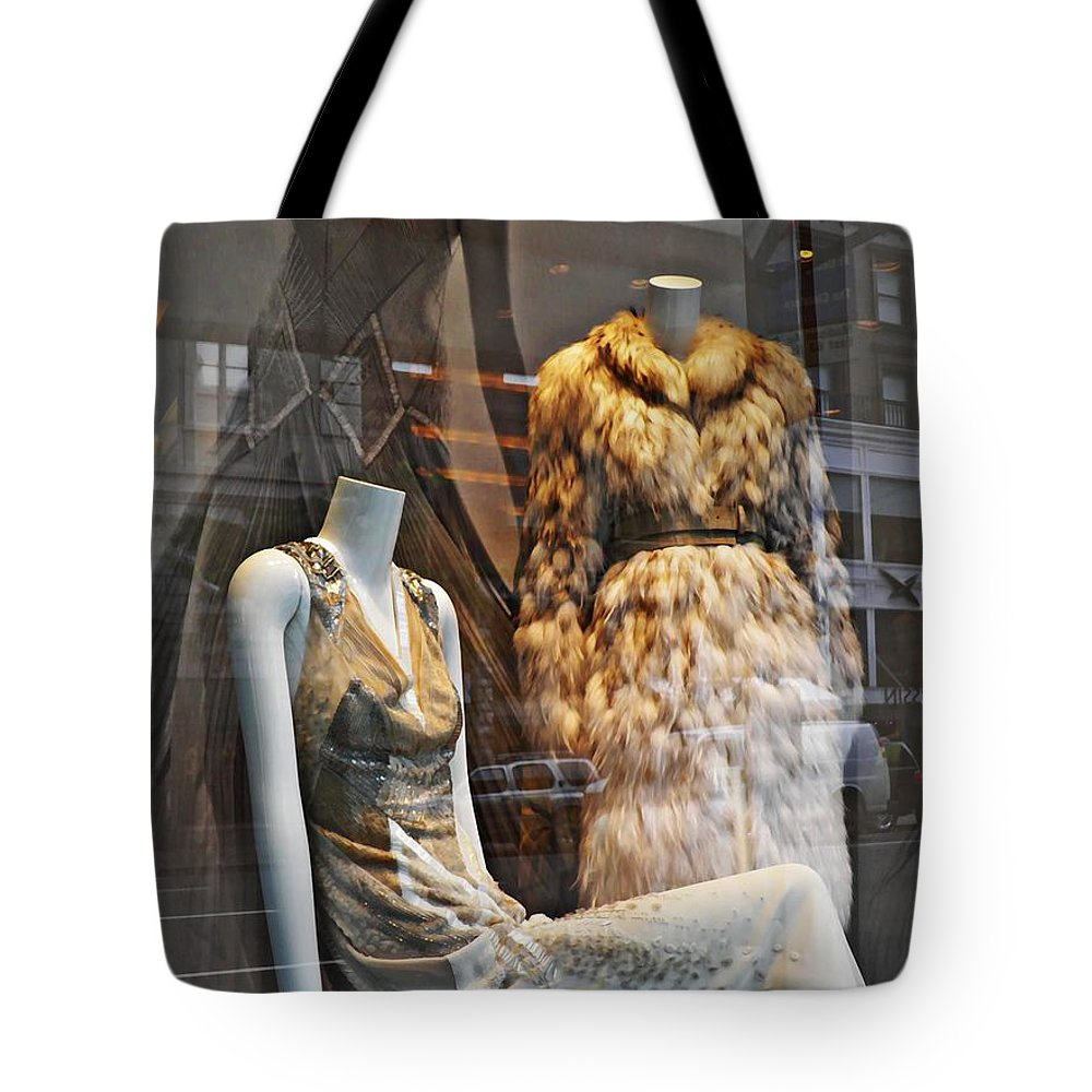 Mannequin Tote Bag featuring the photograph Well Dressed Airheads by Sarah Loft