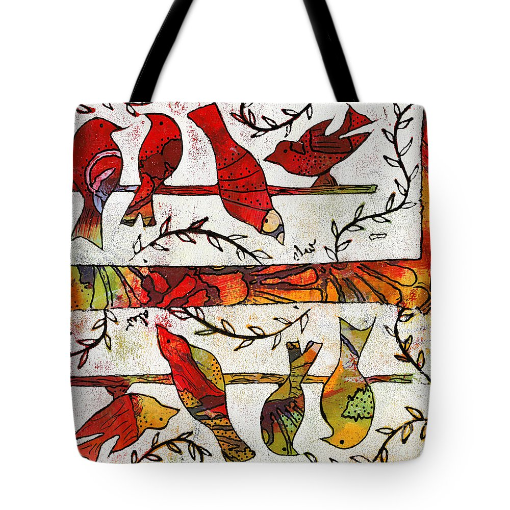 Women Tote Bag featuring the painting We're All Cousins You Know by Angela L Walker