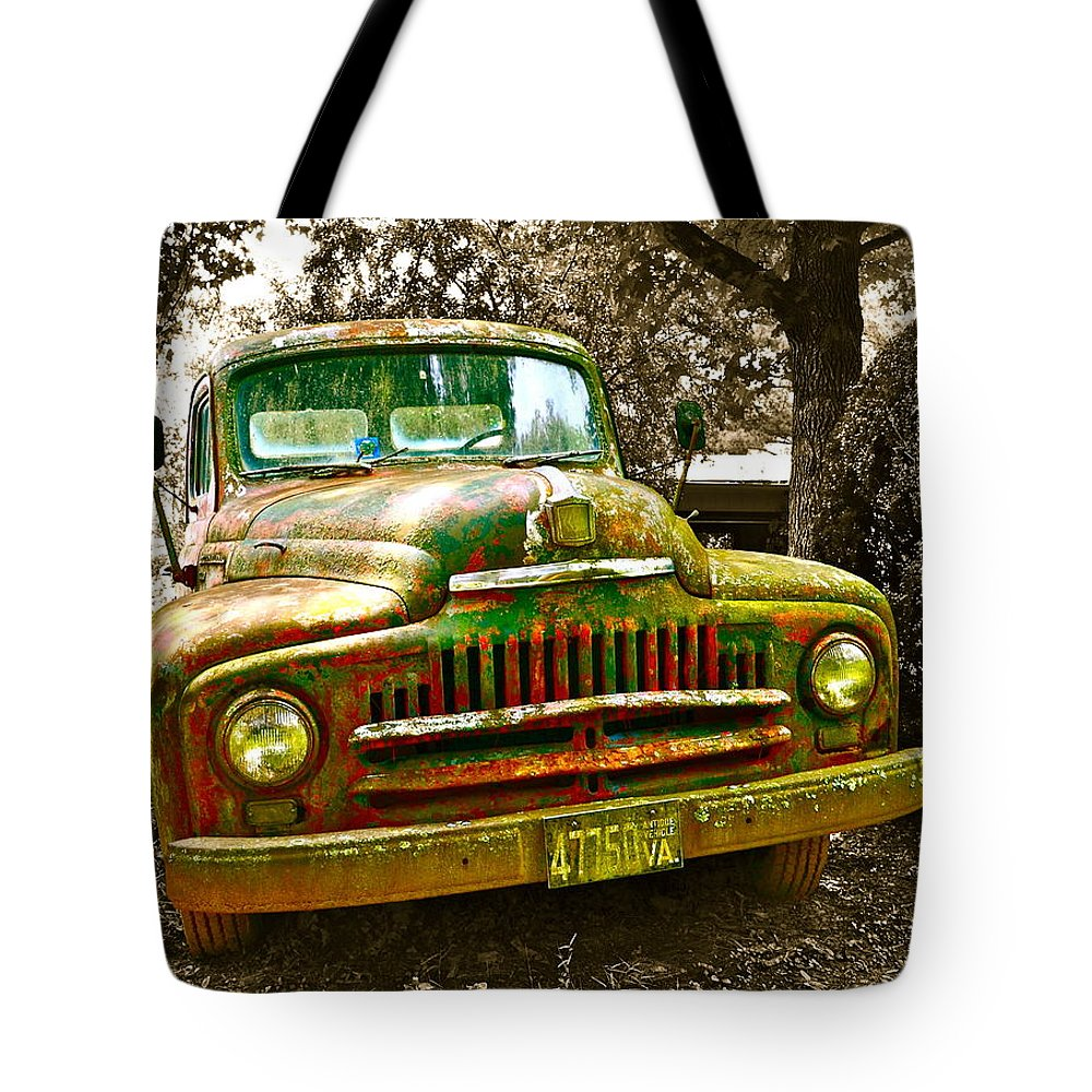 Truck Tote Bag featuring the photograph We're Not In Kansas Anymore by Julie Richie