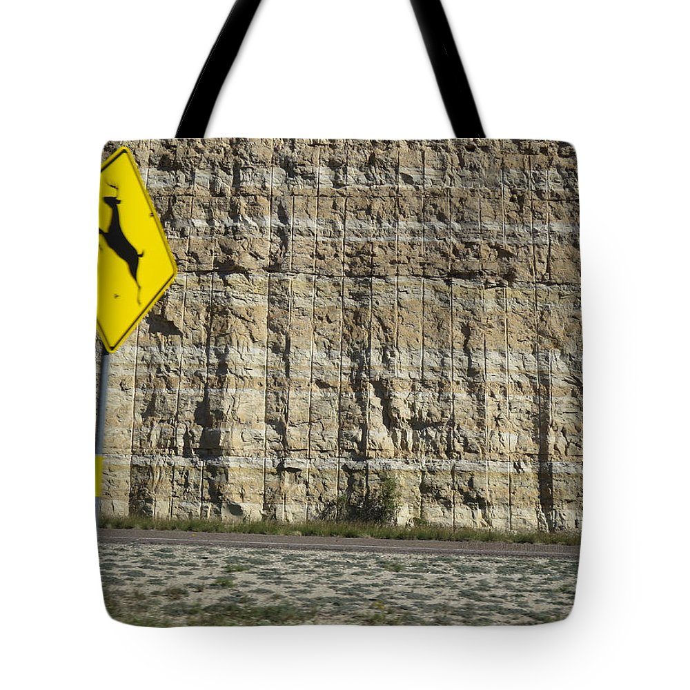 Interstate_10 Tote Bag featuring the photograph West Texas Interstate 10 At 80 Mph - 2 by Carl Deaville