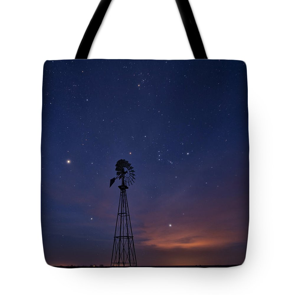 American Landmarks Tote Bag featuring the photograph West Texas Sky by Melany Sarafis