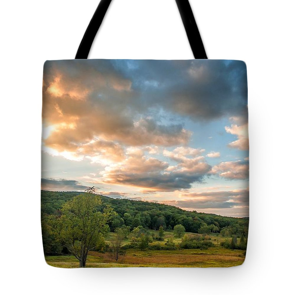 Canaan Valley Tote Bag featuring the photograph West Virginia Sunset by Steve Harrington