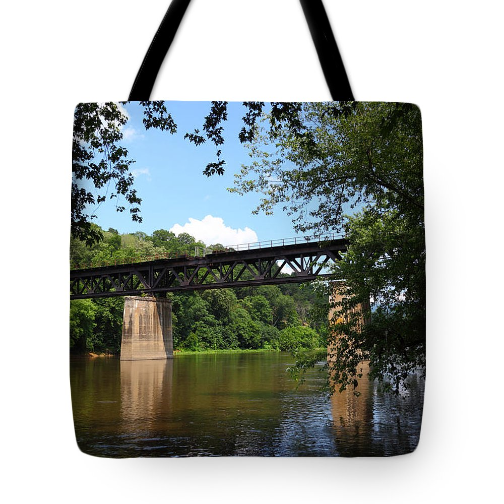 Potomac River Tote Bag featuring the photograph Western Maryland Railroad Crossing The Potomac River by James Brunker