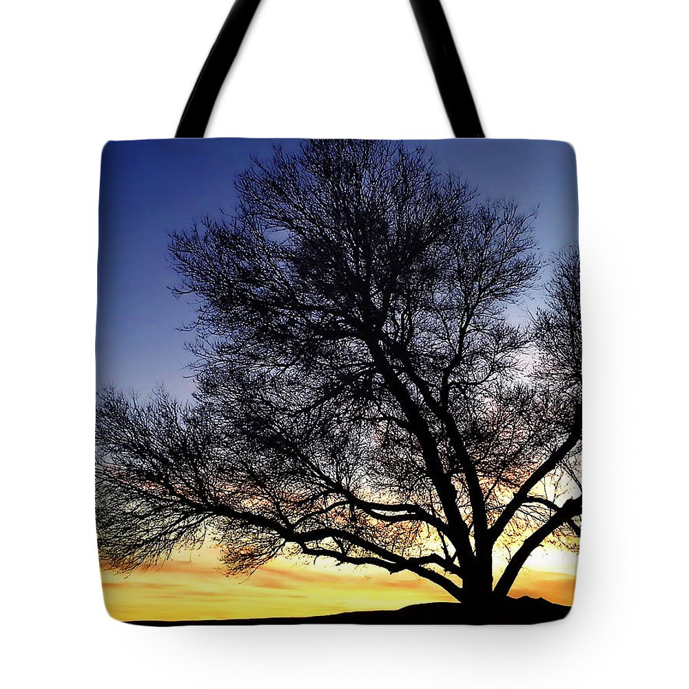 West Tote Bag featuring the photograph Western Sunset by Marilyn Hunt
