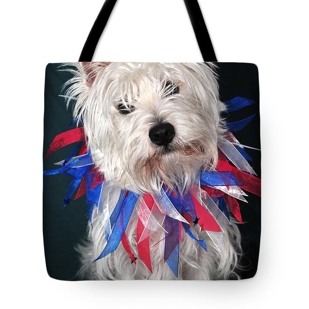 Westie Dressed As Clown Tote Bag featuring the photograph Westie Clown by Catherine Reusch Daley