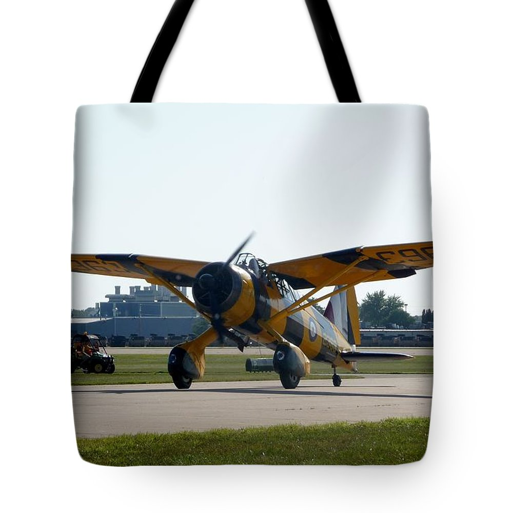 Westland Lysander Mk. Iiia Tote Bag featuring the photograph Westland Lysander by Matt Abrams