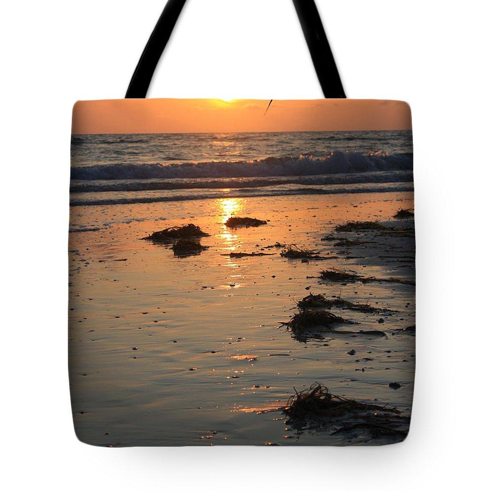 Ocean Tote Bag featuring the photograph Wet Sunset by Irina Davis