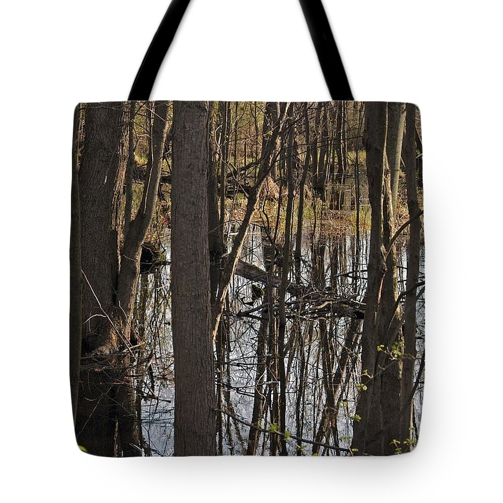 Creek Tote Bag featuring the photograph Wetland by Joseph Yarbrough