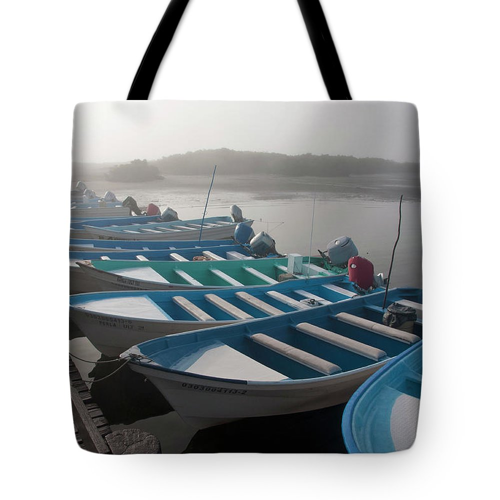 Tourboat Tote Bag featuring the photograph Whale Watching Tour Boats Docked At by Mark Newman
