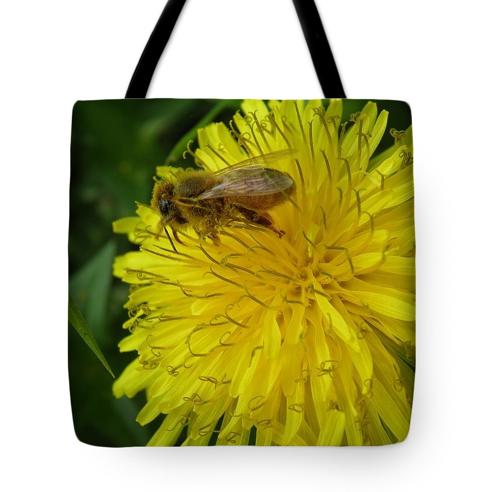 Bee Tote Bag featuring the photograph What A Pollenicious Day by Leone M Jennarelli