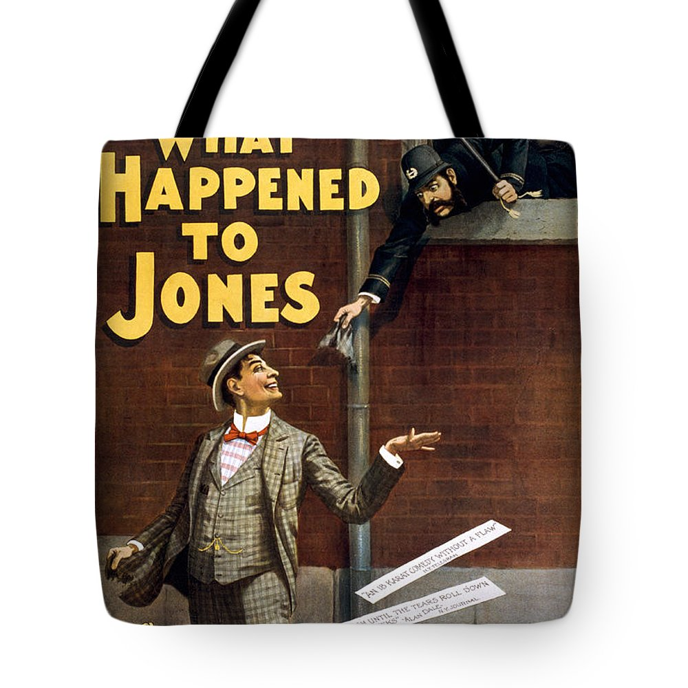 Entertainment Tote Bag featuring the drawing What Happened To Jones by Aged Pixel