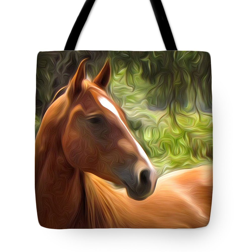 Horse Tote Bag featuring the photograph What Was That by Shannon Story
