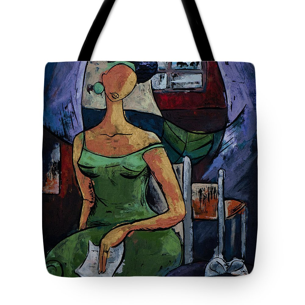 Love Tote Bag featuring the painting What's Left Behind...- From The Eternal Whys Series by Elisabeta Hermann