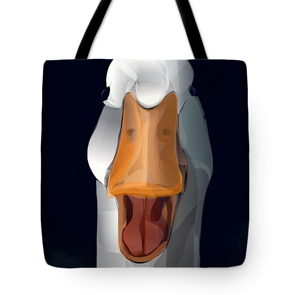 Duck Tote Bag featuring the digital art Whats Up Duck by Brian Jensen Felde