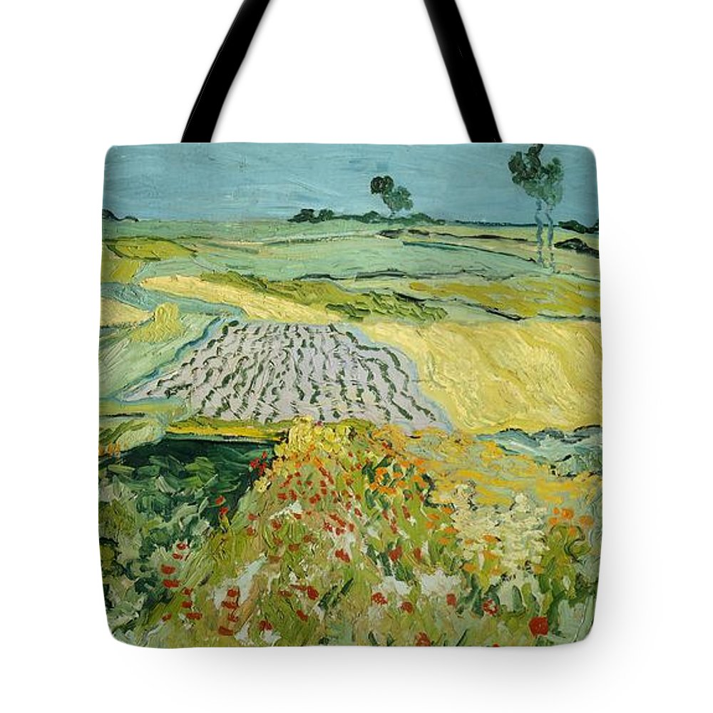 Art Tote Bag featuring the painting Wheatfields Near Auvers-sur-oise by Vincent van Gogh