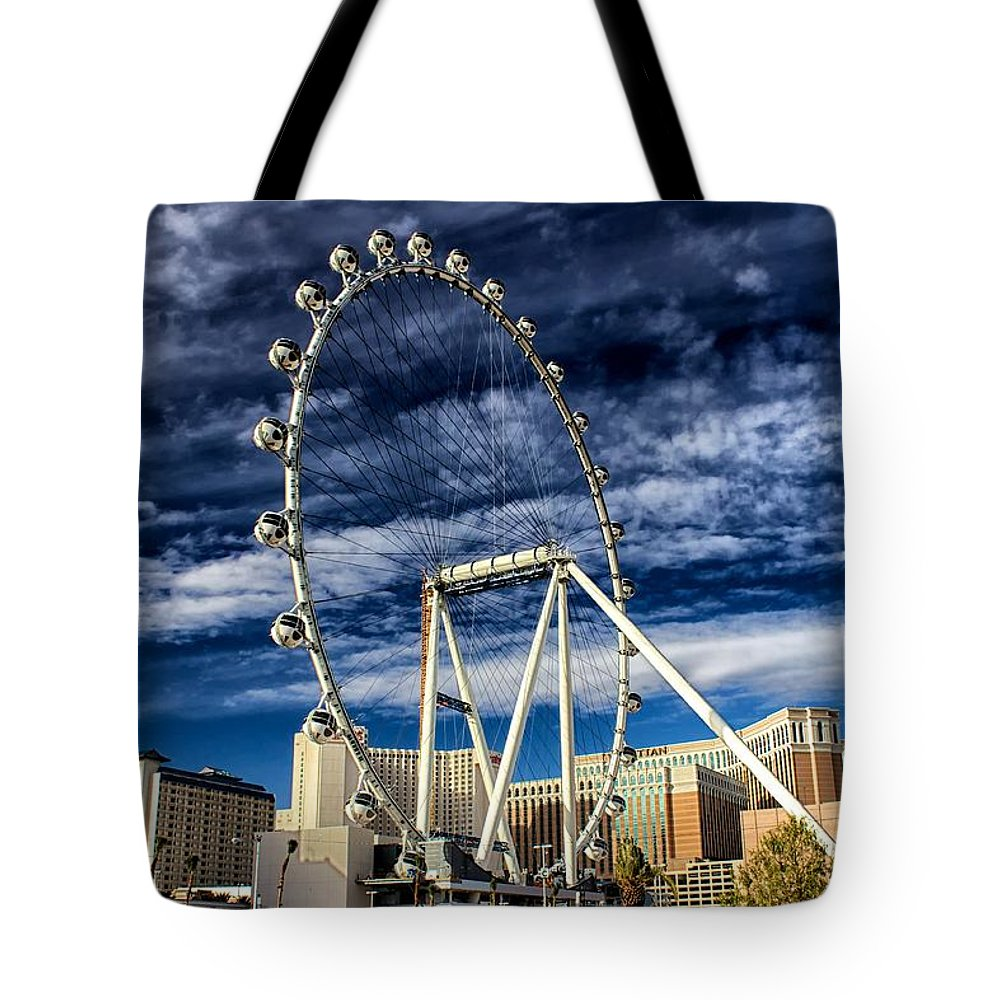 Las Tote Bag featuring the photograph Wheel In The Sky Las Vegas by Michael Rogers