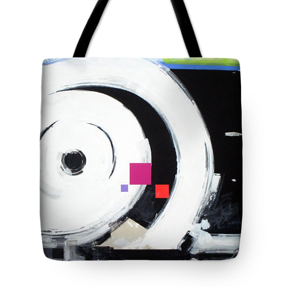 Abstract Tote Bag featuring the painting Wheel Of Fortune by Jean Pierre Rousselet