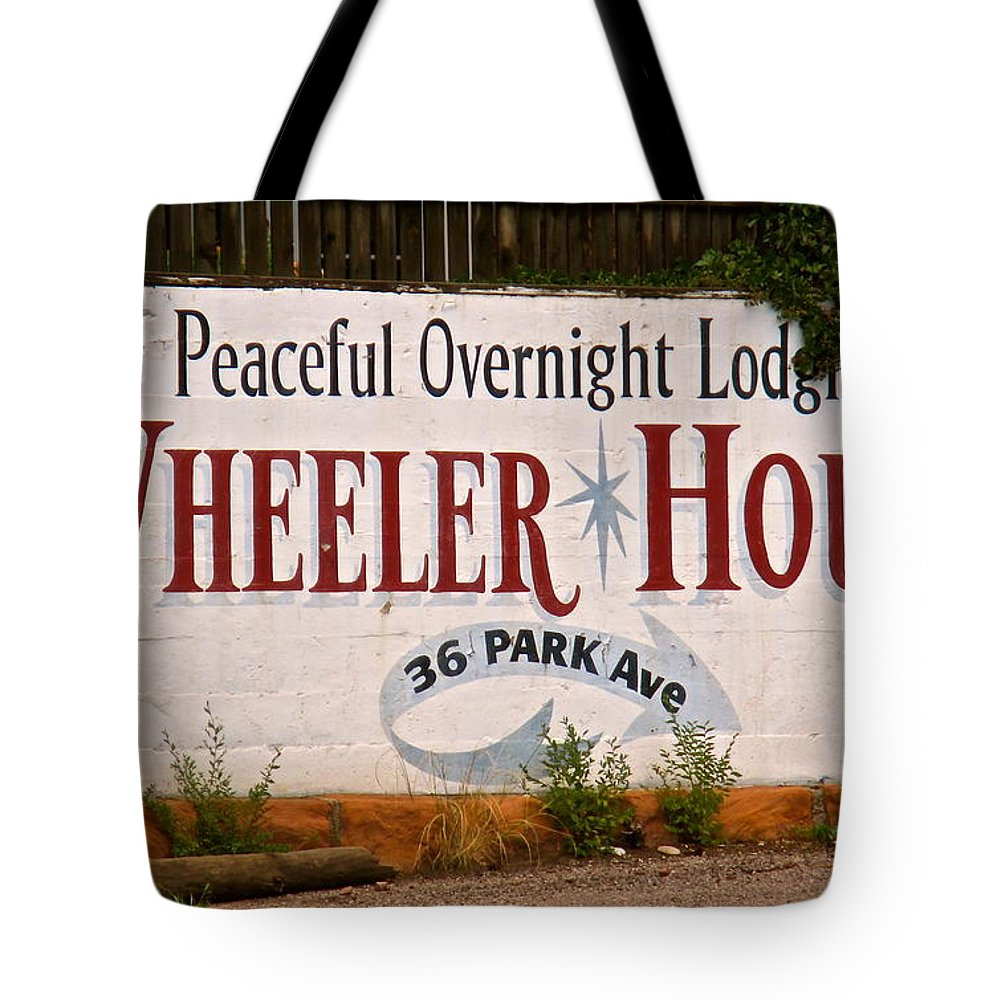 Wheeler Tote Bag featuring the photograph Wheeler House by Jeff Gater