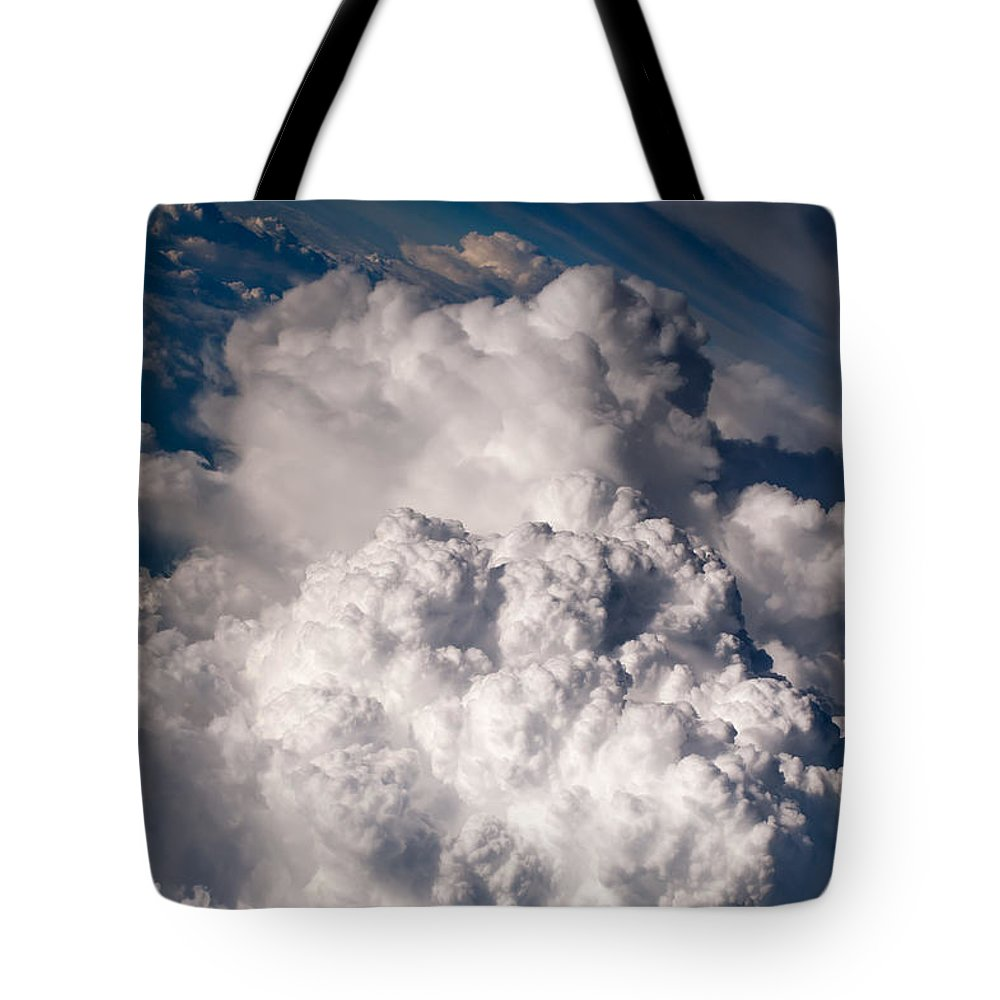Aerial.clouds Tote Bag featuring the photograph When The Dreams Coming True 1 by Jenny Rainbow